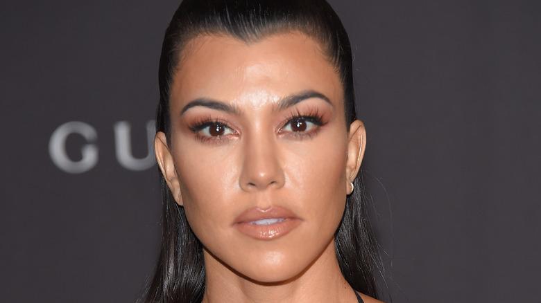 Kourtney Kardashian closeup