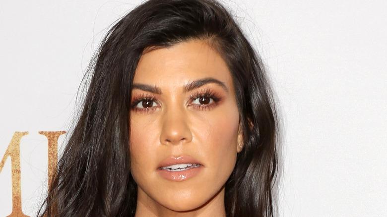 Closeup of Kourtney Kardashian