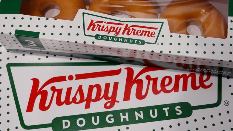 boxes of Krispy Kreme original glazed doughnuts