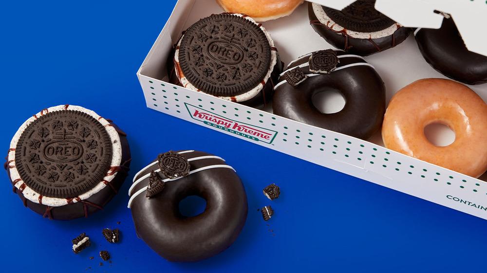 Oreo Krispy Kreme donuts with box