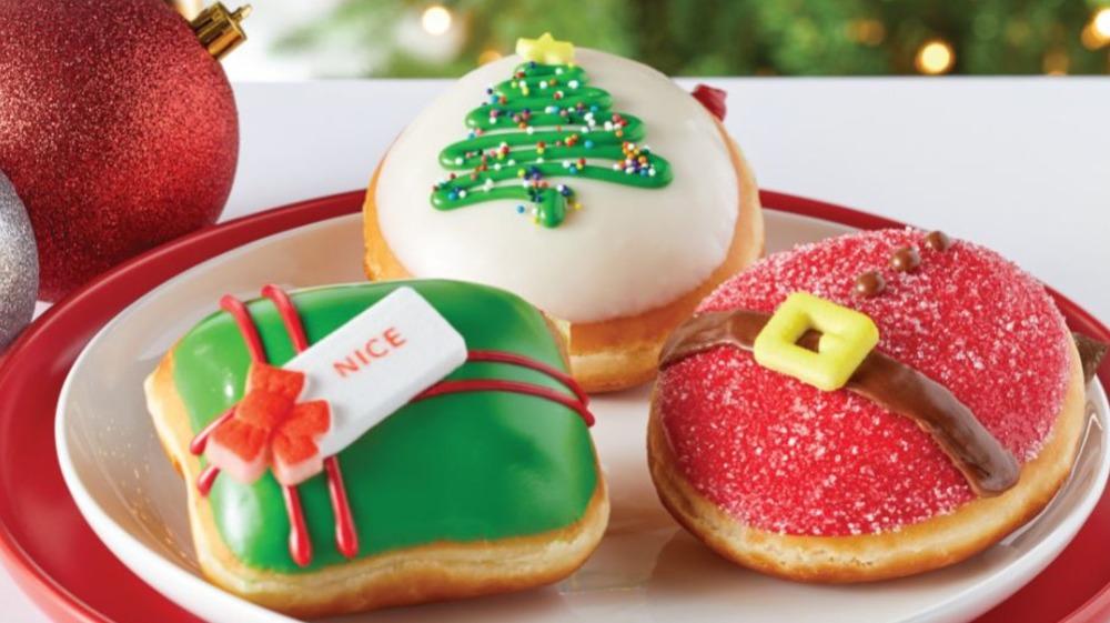 new holiday doughnuts from Krispy Kreme