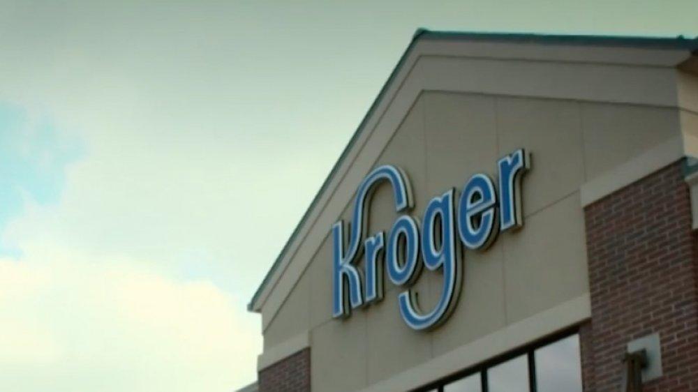 Kroger signage outside supermarket
