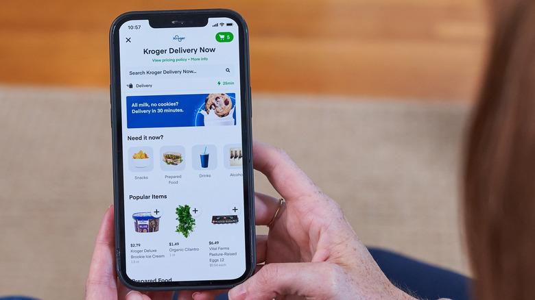 Kroger Delivery Now app