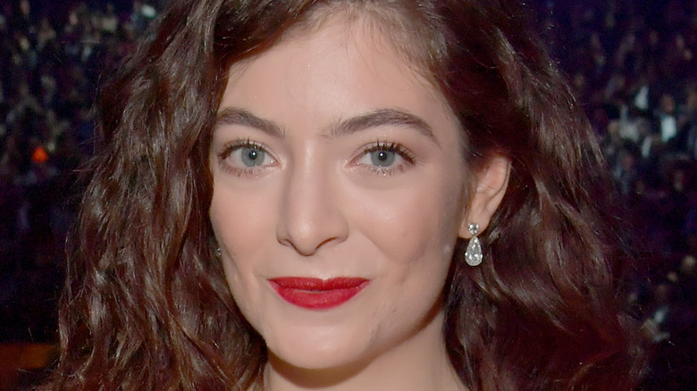 Lorde in red dress