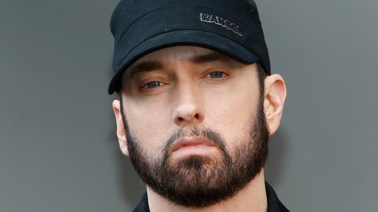 Eminem in black cap