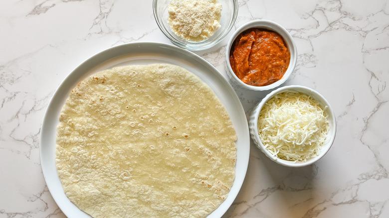 tortilla pizza ingredients