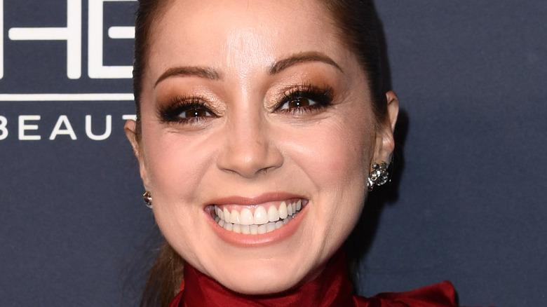 Marcela Valladolid smiling, red carpet