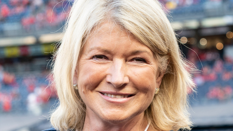Martha Stewart at football game
