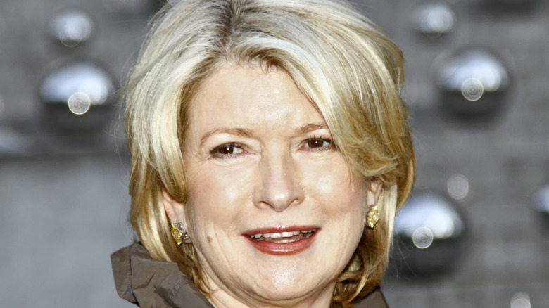 Martha Stewart in red lipstick