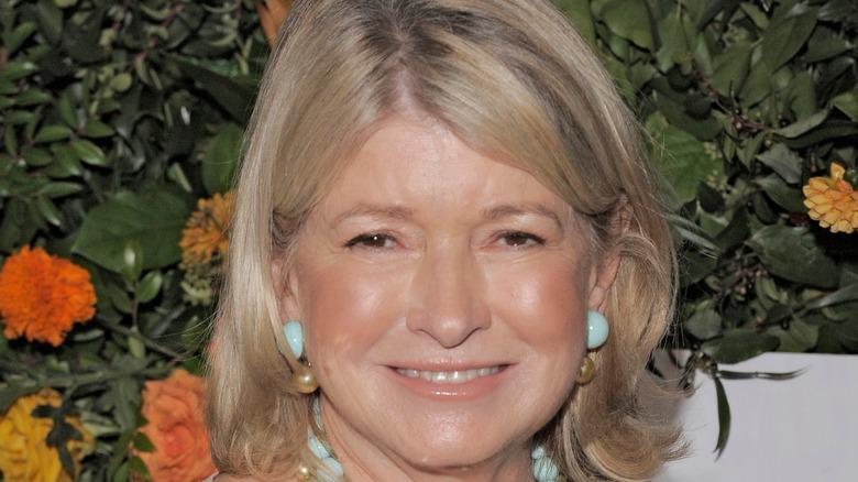 Martha Stewart in aqua earrings