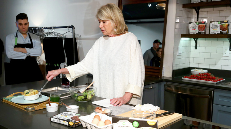 Martha Stewart cooking