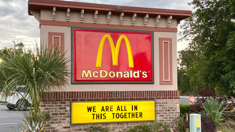 McDonald's sign with reader board