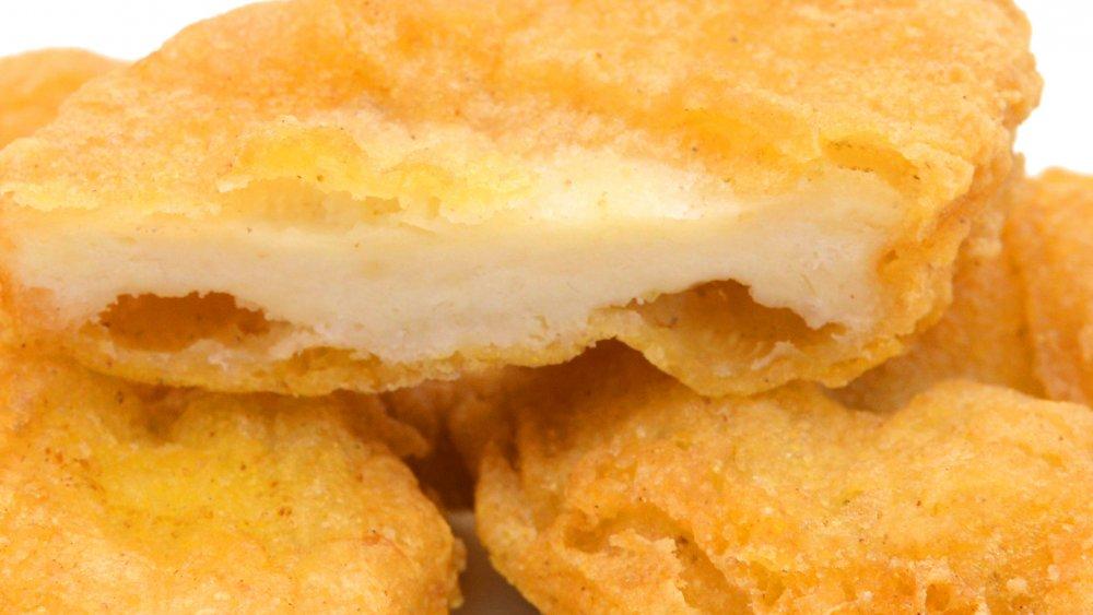 chicken nuggets closeup