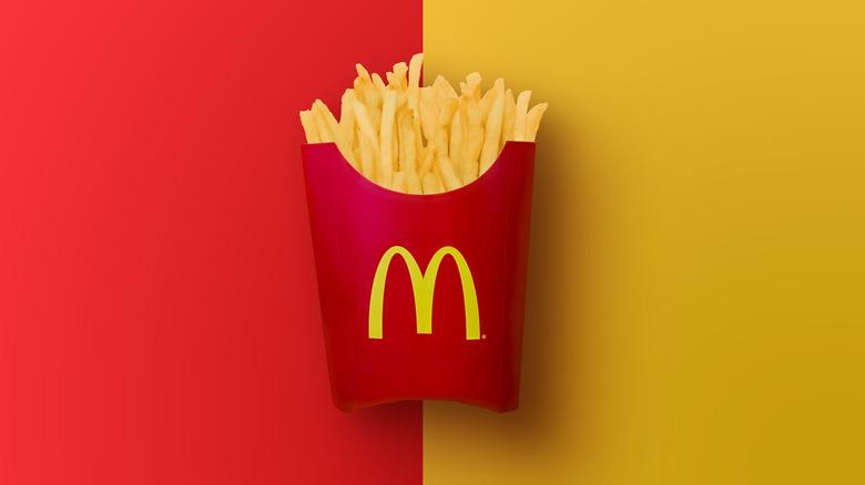McDonald's fries in carton