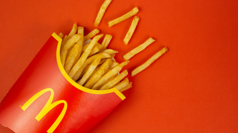 McDonald's fries in red container