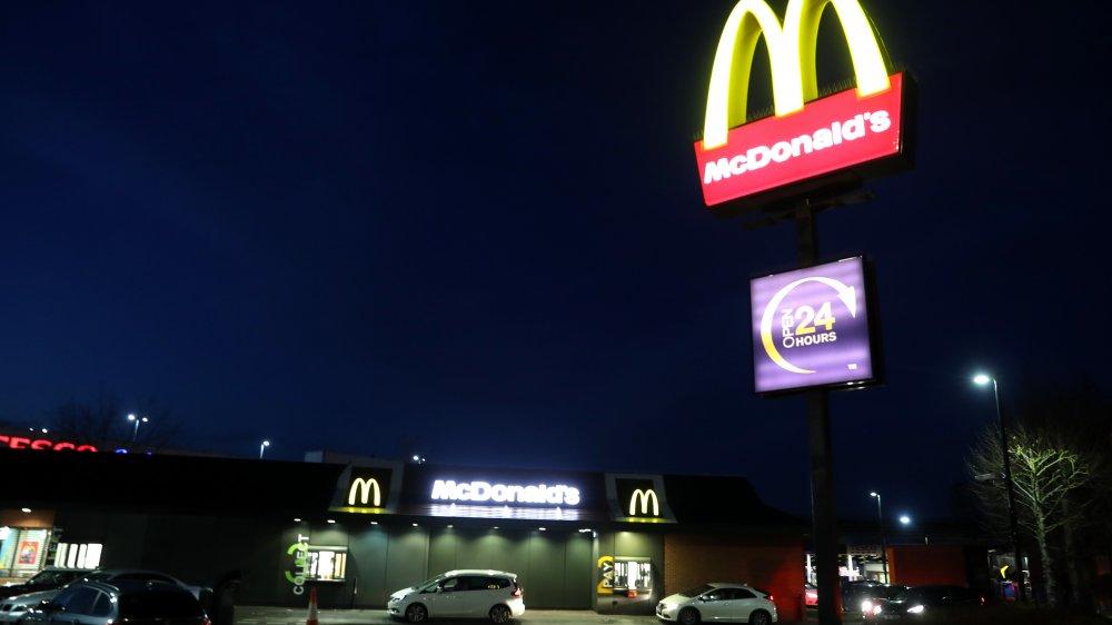 McDonald's sign at night