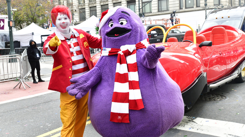 Ronald McDonald and Grimace