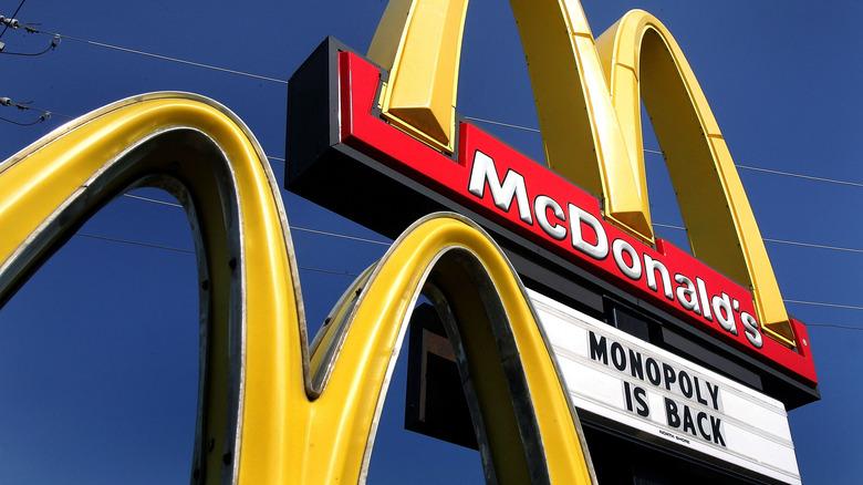 McDonalds Monopoly advertisement