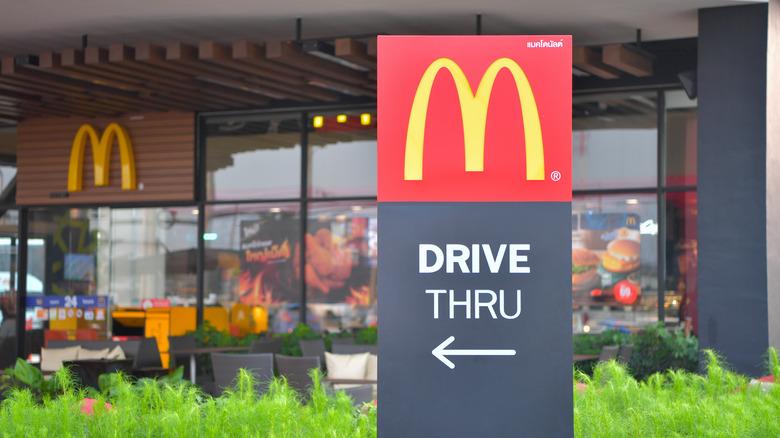 McDonald's drive thru sign