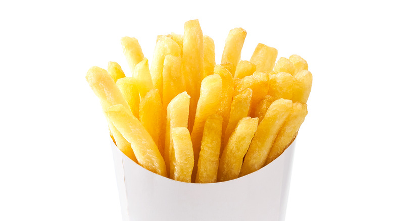 fast food french fries in container
