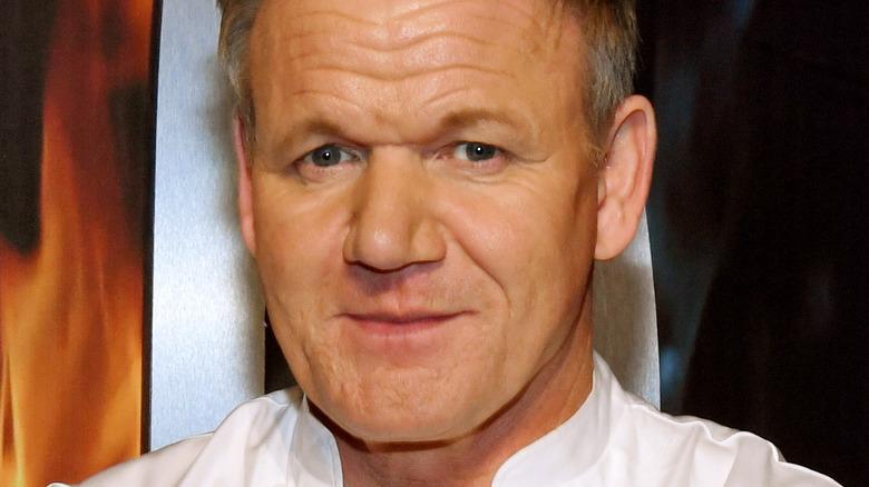 Gordon Ramsay in chef's coat