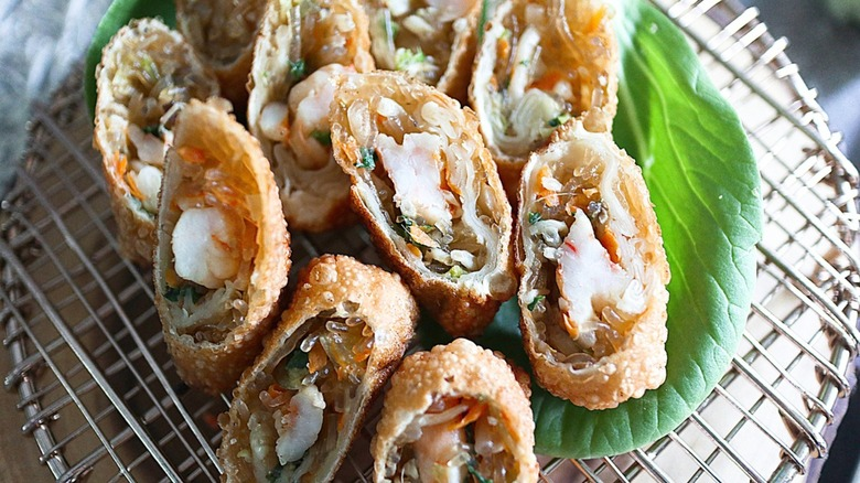 mini shrimp egg rolls