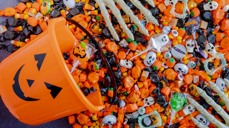 Pile of Halloween candy
