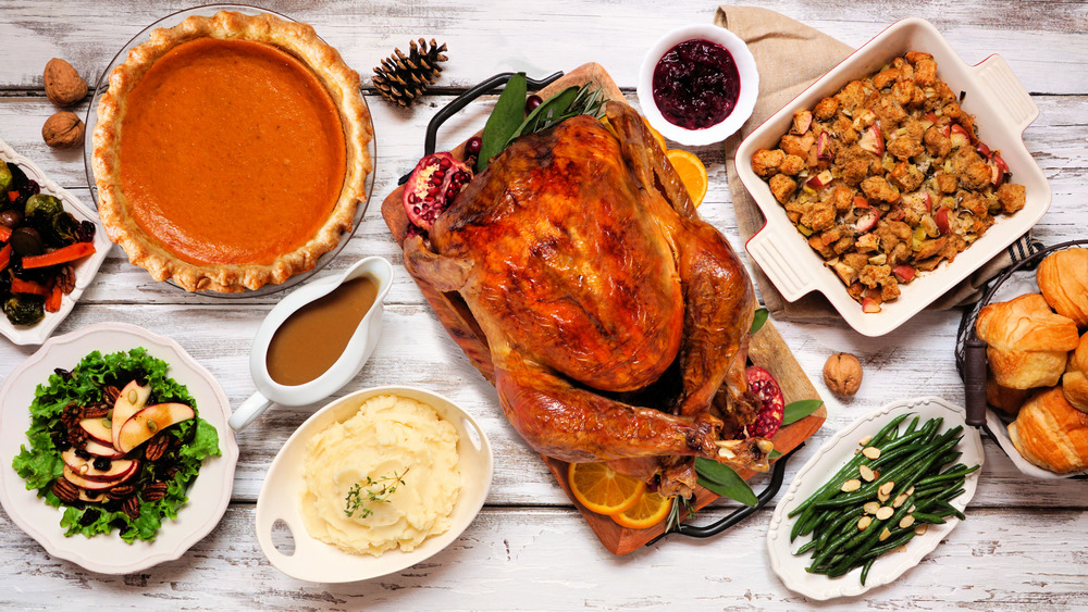 Thanksgiving Dinner with stuffing