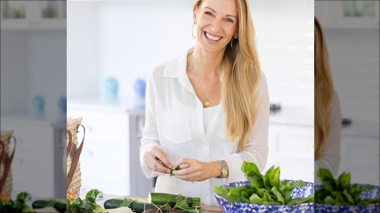 Lisa Bryan preparing food