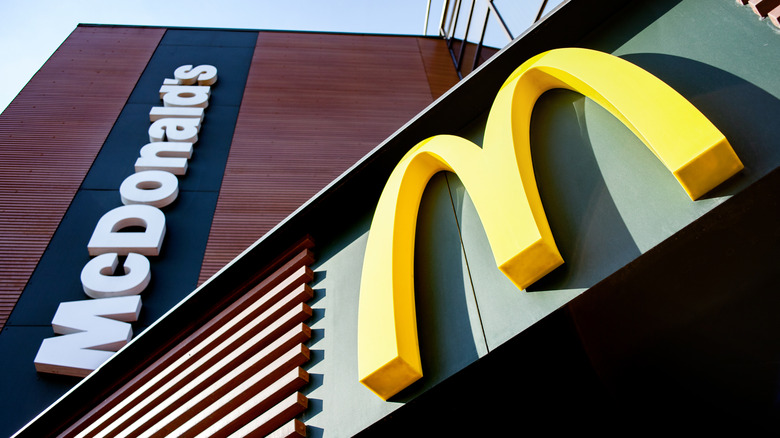 McDonald's sign with the sky in background