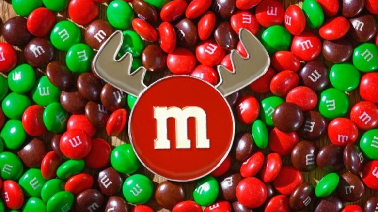 Red and green M&Ms
