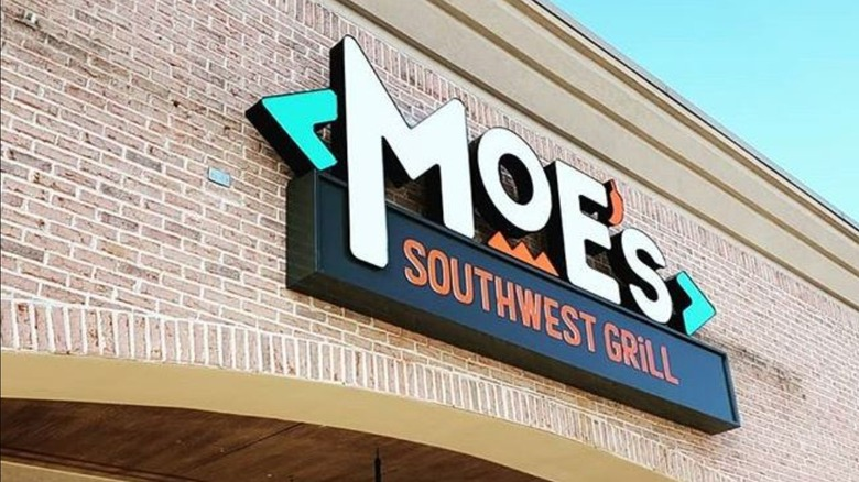 Moe's Southwest Grill sign