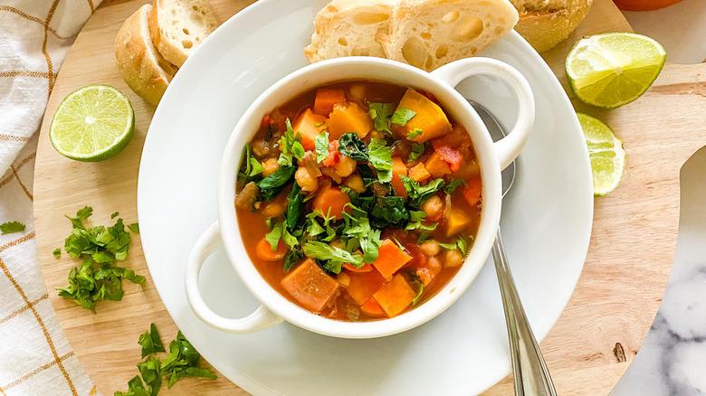 pumpkin stew in a bowl