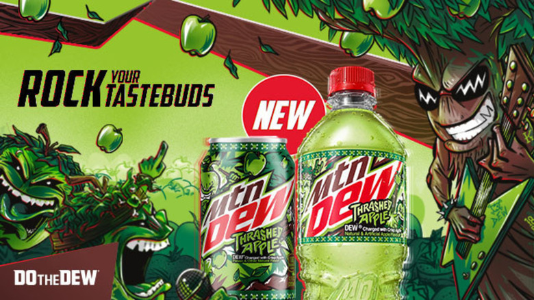 Mountain Dew Thrashed Apple ad