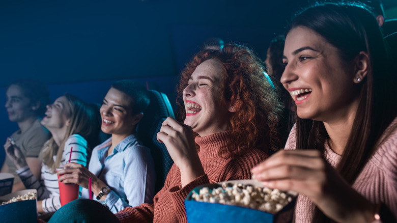 laughing movie audience