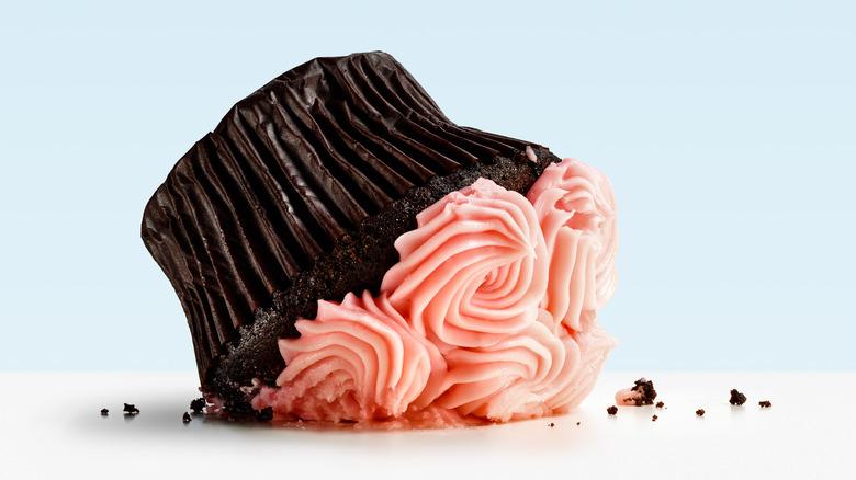 dropped cupcake