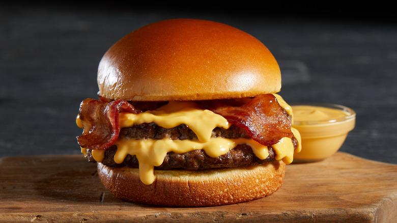 The new Nathan's Bacon Cheddar Cheesy Burger