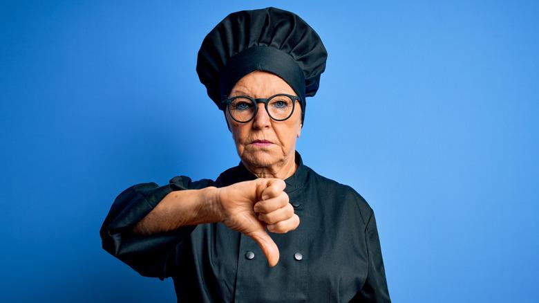 Stern chef thumbs down