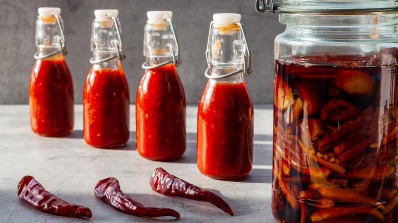 hot sauce bottles
