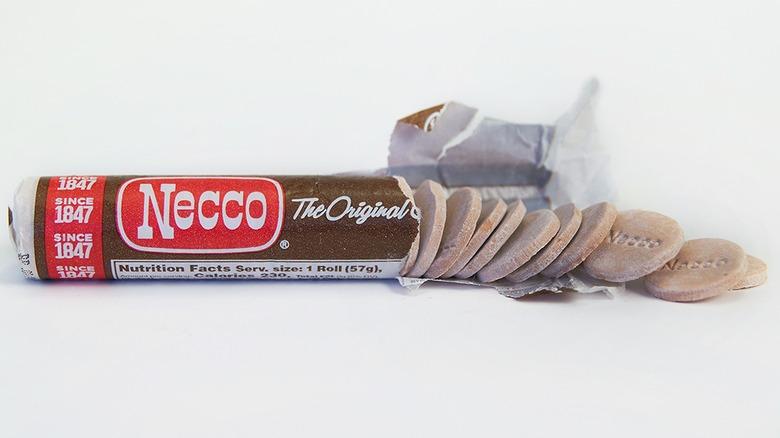 Necco chocolate roll