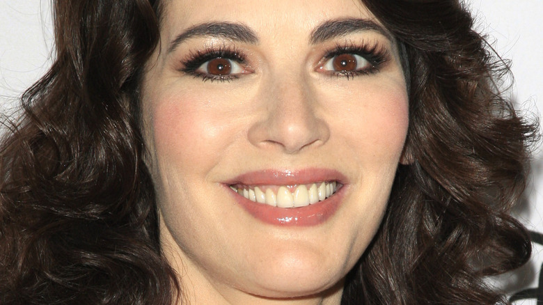 Close up of Nigella Lawson