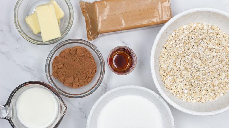 ingredients for no bake graham cracker cookies