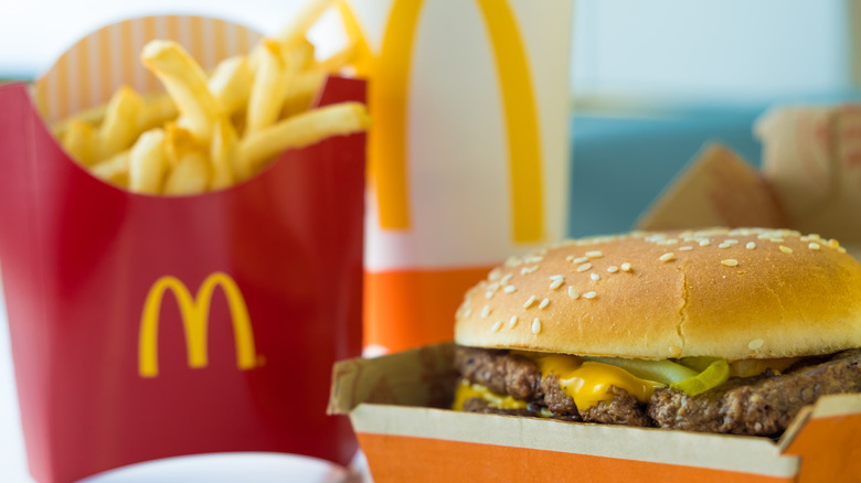 McDonald's Double Quarter Pounder with fries