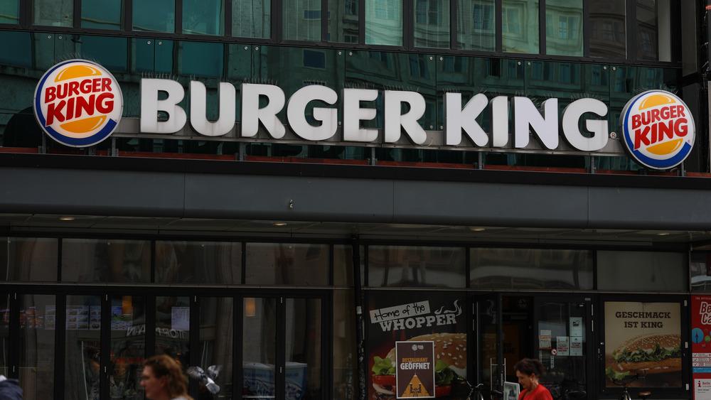 Burger King sign outside restaurant