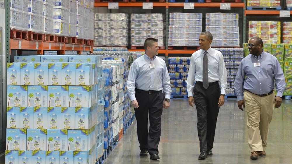 Barack Obama at a Costco