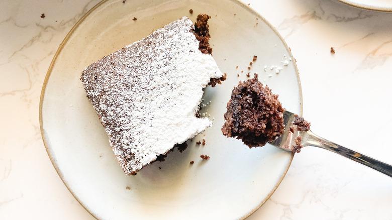 slice of Wacky Cake