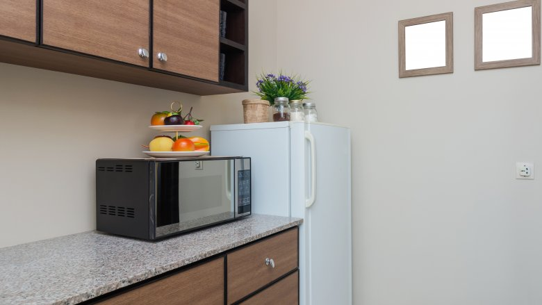 office kitchen with microwave
