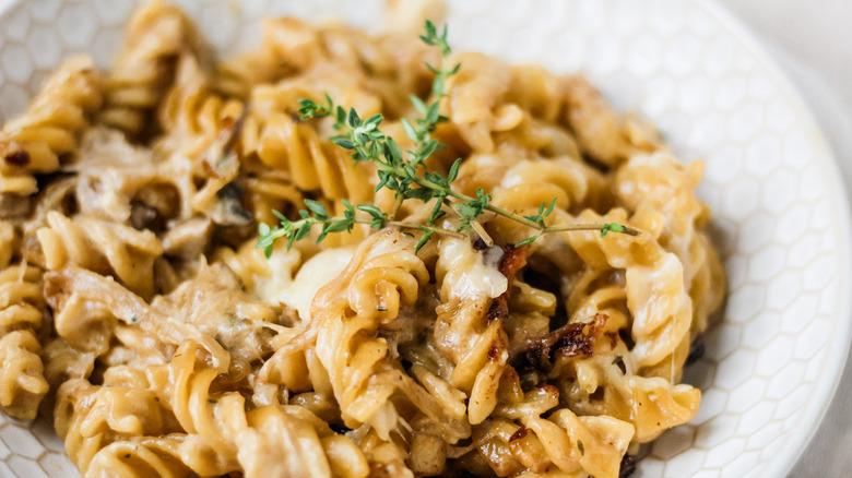 close-up Fench pasta bake