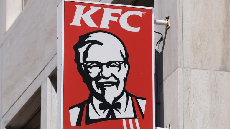 KFC sign on building exterior