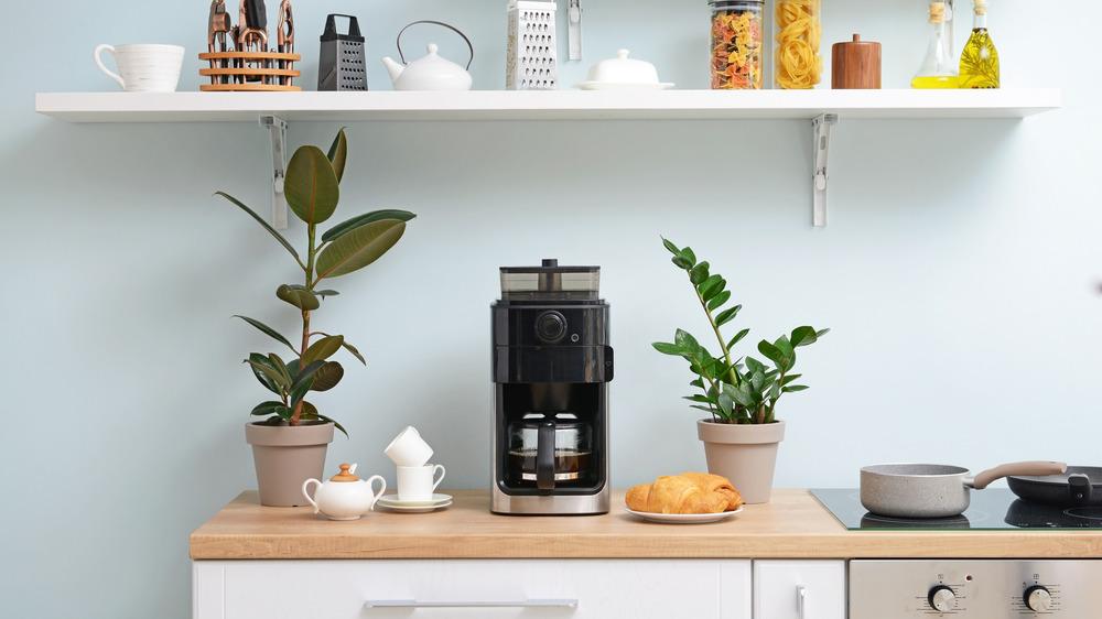 Coffee maker in kitchen